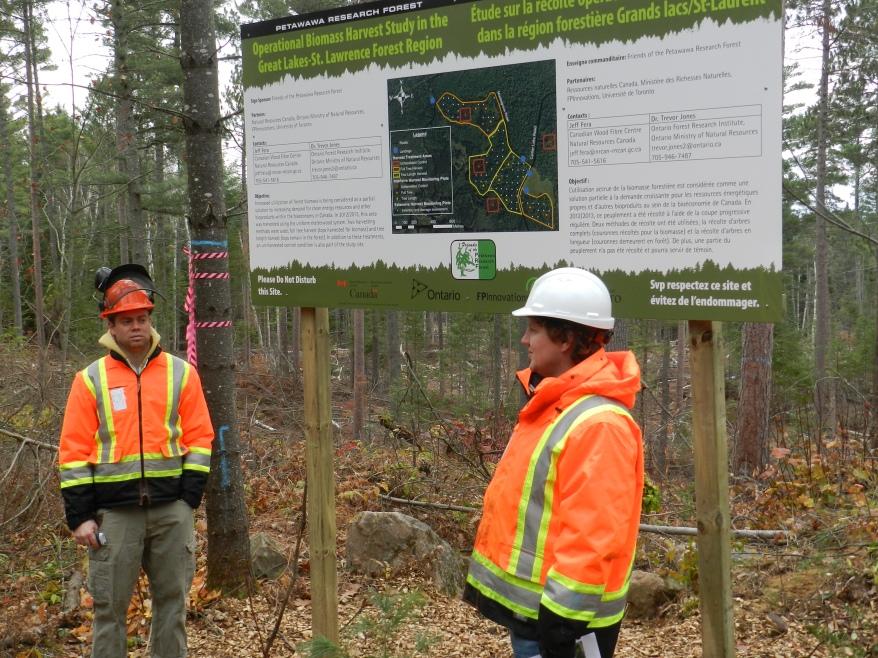 Researchers Jeff Fera and Dr. Trevor Jones discuss the current Operational Biomass Harvest Study.
