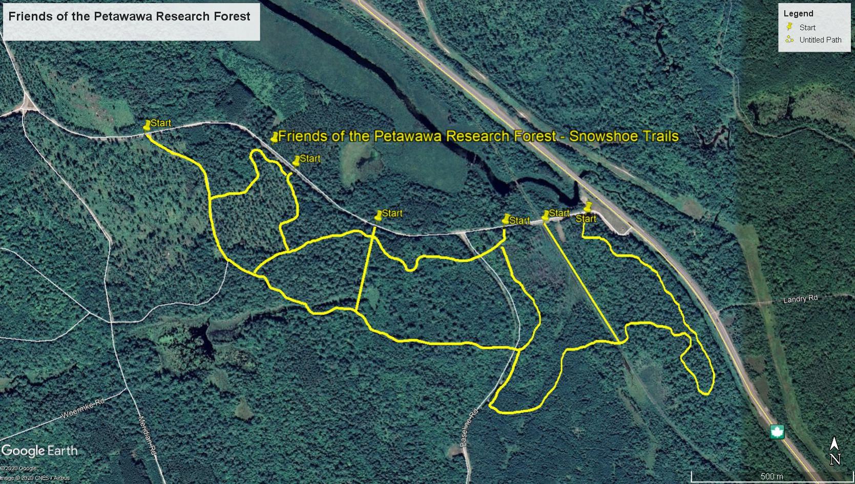 PRF Snowshoe Trails 2021